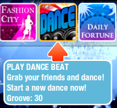 Dance Beat game selection