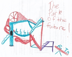 Drawing of The Park of the Future from child's survey